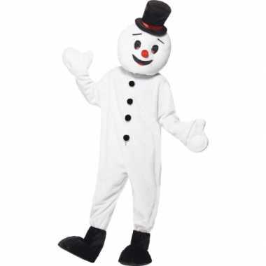 Sneeuwpop mascotte kostuum