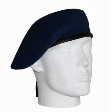 Soldaten baretten marine blauw