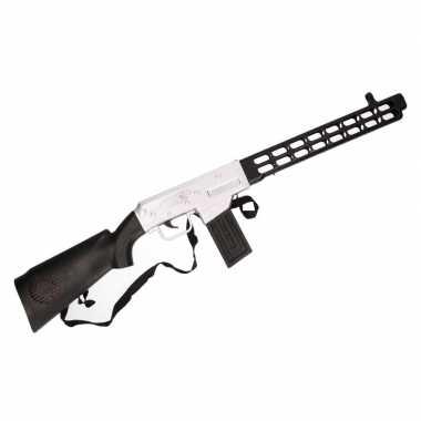Soldaten speelgoed verkleed geweer zwart met geluid 76 cm
