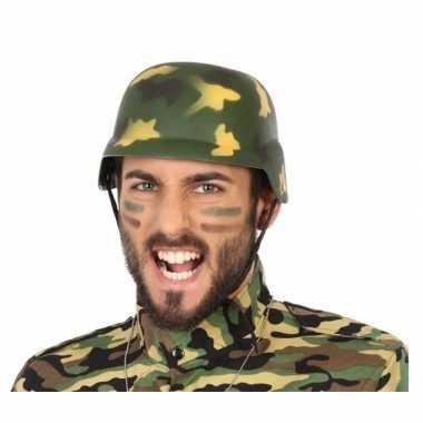 Soldaten verkleed helm camouflage voor volwassenen
