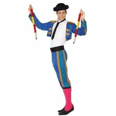 Spaanse matador/stierenvechter verkleed kostuum voor heren