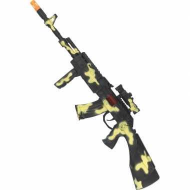 Speelgoed geweer met camouflage print
