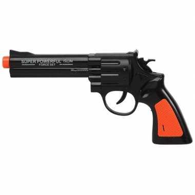 Speelgoed pistool/pistolen zwart met geluid 23 x 11 cm
