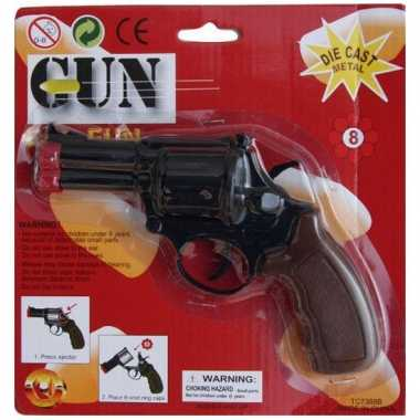 Speelgoed politie revolver zwart