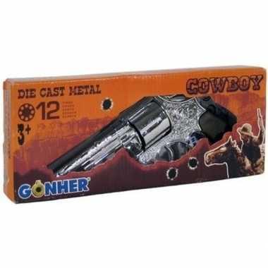 Speelgoed/verkleed cowboy plaffertjes pistool 12 schots