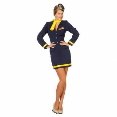 Stewardessjurkje blauw
