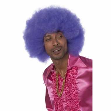 Super afro pruiken in het paars