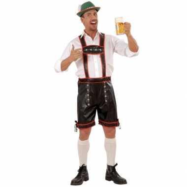 Tirolerbroek zwart voor heren