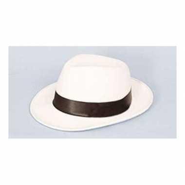 Toppers al capone hoed wit met zwart
