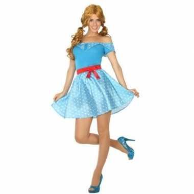 Toppers jaren 50 verkleed kostuum/jurkje voor dames