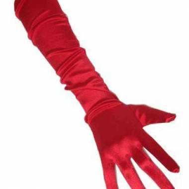 Toppers rode handschoenen gala