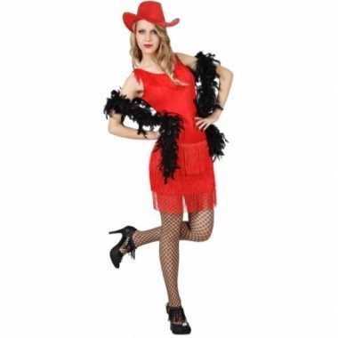Toppers rood feestjurkje voor dames