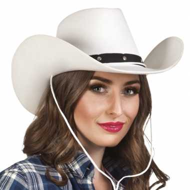 Toppers witte cowboyhoed wichita voor dames