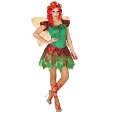 Toverfee/elfen jurkje verkleed kostuum voor dames