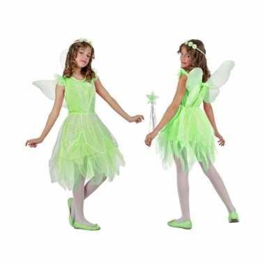 Toverfee/elfje flora verkleed kostuum/jurkje voor meisjes groen
