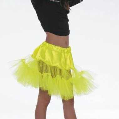 Tule petticoat geel voor meiden
