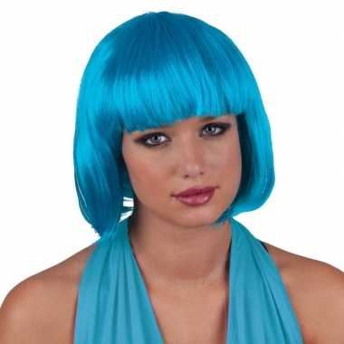 Turquoise pruiken voor vrouwen