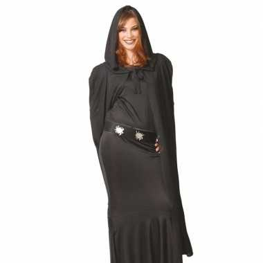 Vampier cape zwart met capuchon 135 cm