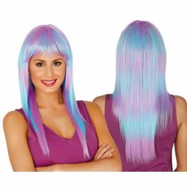 Verkleed damespruiken lang haar in twee kleuren
