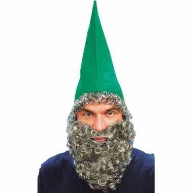 Verkleed hoed met baard groen