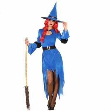 Verkleed outfit blauwe heks