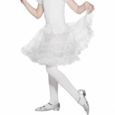 Verkleed petticoat wit voor kinderen