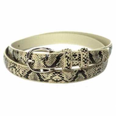 Verkleed riem slangenprint 105 cm
