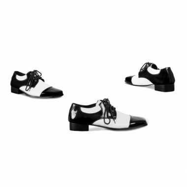 Verkleed schoenen voor heren zwart wit