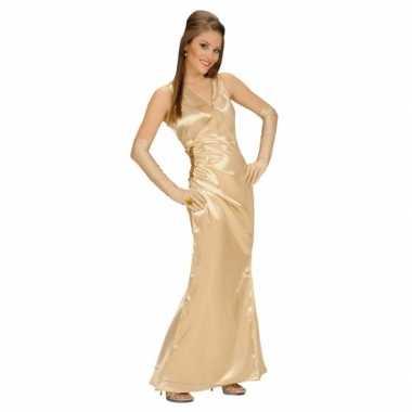 Verkleedkleding gouden jurk voor dames