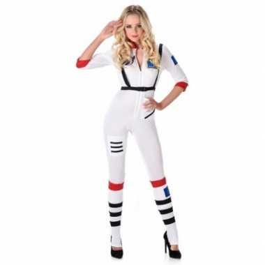Verkleedkleding ruimtevaarder jumpsuit voor dames