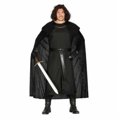 Verkleedpak zwart ridderpak