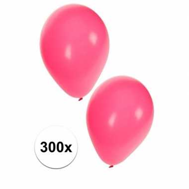 Versierings ballonnen roze, 300 st