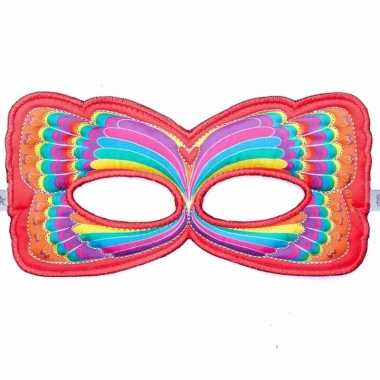 Vlinder oogmasker rood regenboog voor kinderen