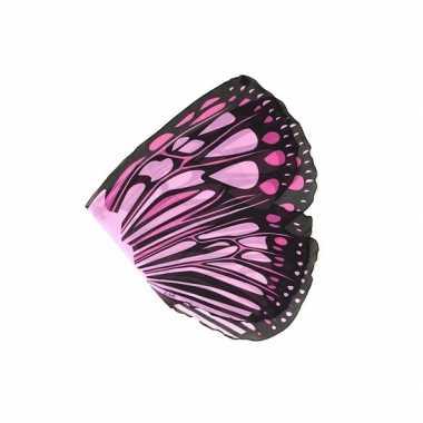 Vlinder verkleed vleugels roze voor meisjes