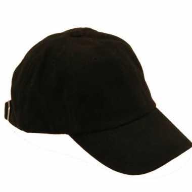Voordelige baseballcaps zwart