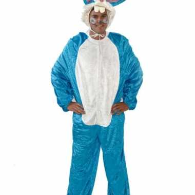 Vrijgezellenfeest kostuum blauw konijn