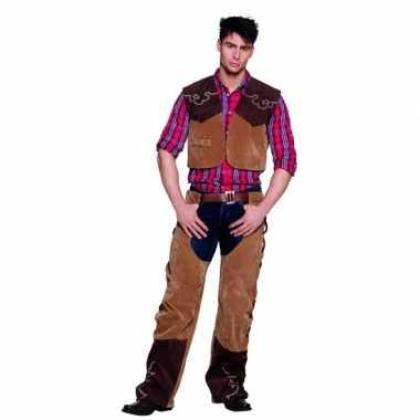 Wild west cowboy kostuum bruin