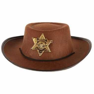 Wilde westen cowboy hoed