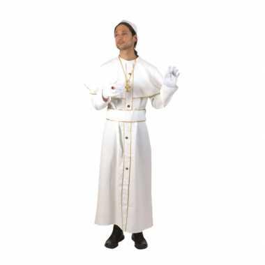 Wit feest kostuum kardinaal