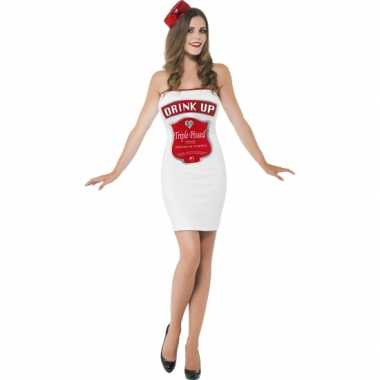 Witte dames kostuums dranklabel