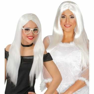 Witte engelen pruik voor dames