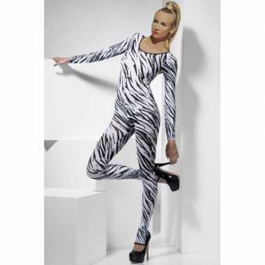 Zebra print bodysuit voor dames