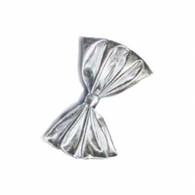 Zilver vlinderstrikje glimmend