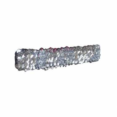 Zilveren glitter pailletten disco haarband