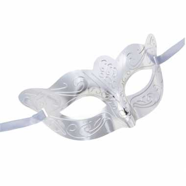 Zilveren venetiaans oogmasker