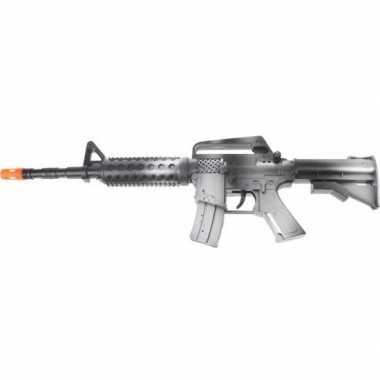 Zwart automatisch speelgoed geweer 46 cm voor jongens