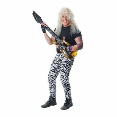 Zwart/witte zebra print legging