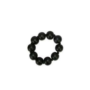 Zwarte armband met grote kralen