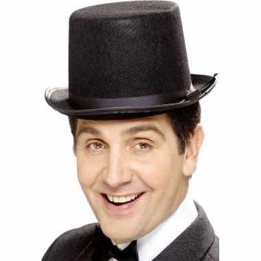 Zwarte hoge hoed vilt voor heren