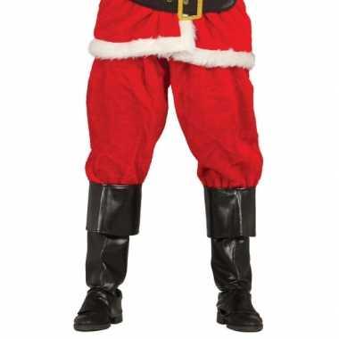Zwarte laars hoezen verkleed accessoire 52 cm